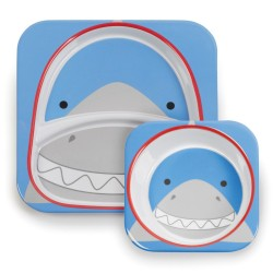 Skip Hop Zoo Melamine Plate and Bowl Set - Shark