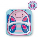 Skip Hop Zoo Melamine Plate and Bowl Set, Butterfly