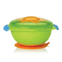 Nuby Bowl With Suction Ring - Green