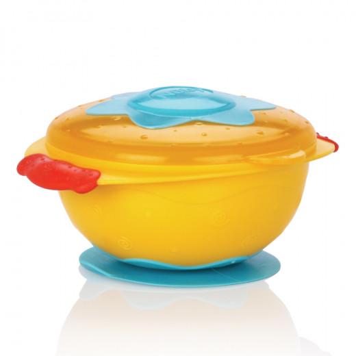 Nuby Bowl With Suction Ring - Orange