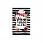 Mofakera - Modern Black - To Do List Operations - 100 Pages - 20x13.5cm
