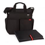 حقيبة حفاضات ثنائية التوقيع مع حصيرة تغيير محمولة من  سكيب هوب ، أسود