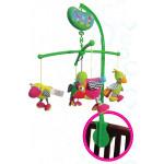 إي بيبي: لعبة موسيقية متحركة لسرير الاطفال بأشكال الطيور