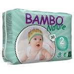 Bambo Nature Baby Diapers Classic, Size 2 (3-6Kg), 30Count