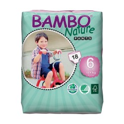 Bambo Nature Baby Training Pants Classic, Size 6 (18+ Kg), 18 Count