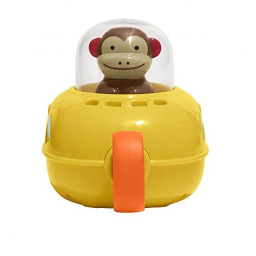 الغواصة مونكي لتسلية طفلك حوض الاستحمام والسحب والذهاب من سكيب هوب