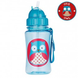 Skip Hop Zoo Straw Bottle, Owl