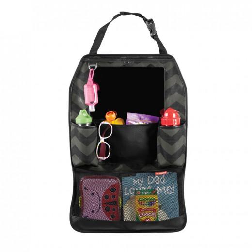 حقيبة أنيقة لترتيب الأغراض مخصصة لمقعد السيارة الخلفي من سكيب هوب، لون أسود