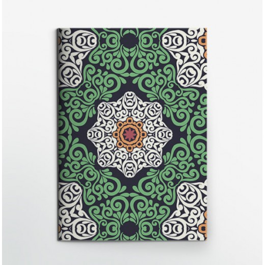Colors & Shapes Green Flower Notebook