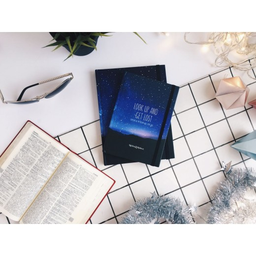 Galaxy Sketchbook Small - Blue