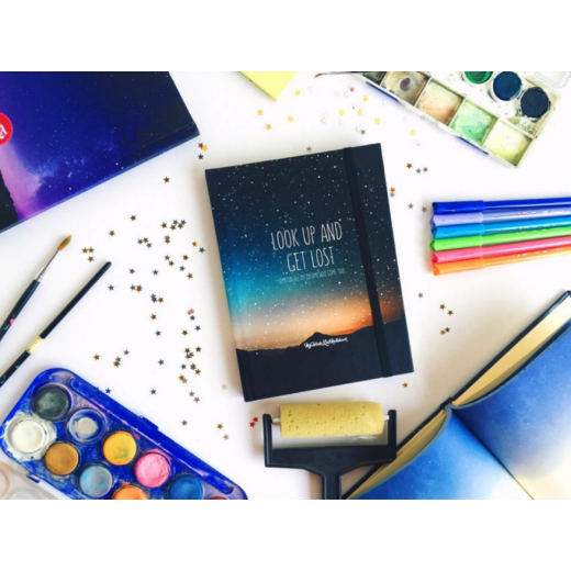 Mofakera-Galaxy Sketchbook Small (Green) -16.5x11.5cm