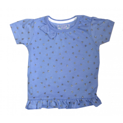 Primark Heart Elegant & Unique T-Shirt - (Blue) - 0-3 Months