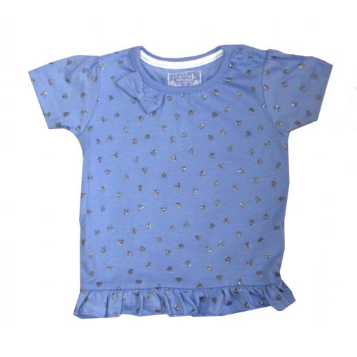 Primark Heart Elegant & Unique T-Shirt - (Blue) - 0-3 Months