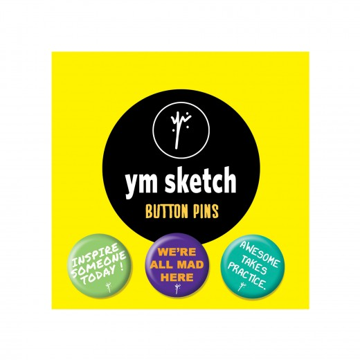 3 Ymsketch Button Pin - 1