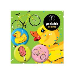 3 Ymsketch Button Pin - 9