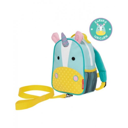 Skip Hop Zoo Let Children's Mini Back Pack With Reins - Unicorn