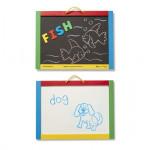 Melissa & Doug Magnetic Chalkboard/Dry - Erase Board