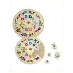 Edu Fun Circle matching board colours