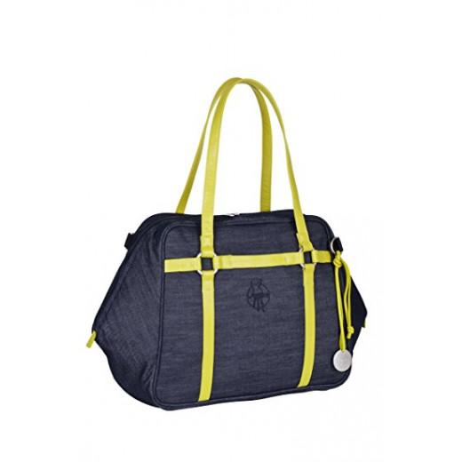 حقيبة حضرية العلامة الخضراء من لاسيج ، الدنيم الأزرق