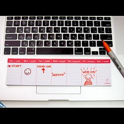 YM Sketch-Weekly Mini Task Planner -  6.5825 Cm - Black