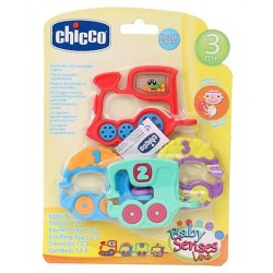 Chicco Toy Rattle 123 Train, Multi Color