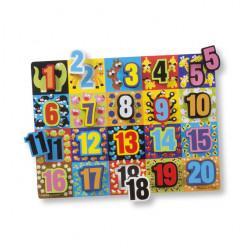 بازل تشانكي بتصميم أرقام كبيرة قابلة للتثبيت من ميليسا آند دوج 20 قطعة