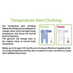 BabySafe Baby Wear Temperature Alert - Body Suits (2 pieces) - pink - 0-3 Months