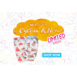 Pure Born - Organic Nappy Size 2, Cyrine Limited Edition Print, 3-6 Kg, 32 Nappies, Watermelon