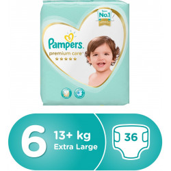 Pampers Premium Care Diapers, Size 6, Extra Large, 13+ kg, Mega Pack, 36 Count