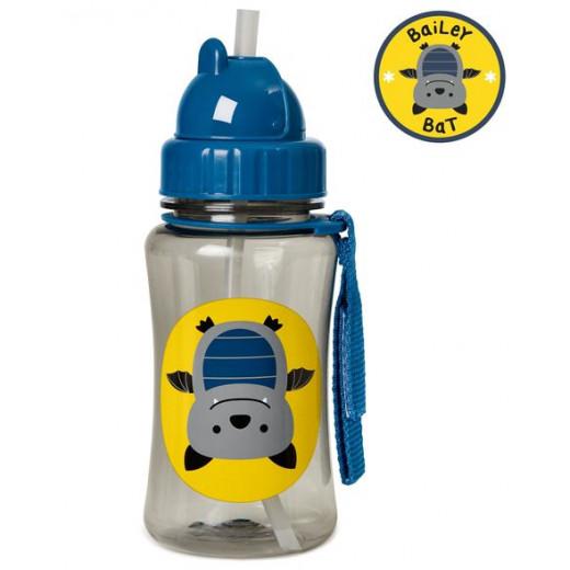 قارورة ماء مع مصاصة لتدريب لاطفال الصغار على الشرب بشكل طبيعي من سكيب هوب, قطة