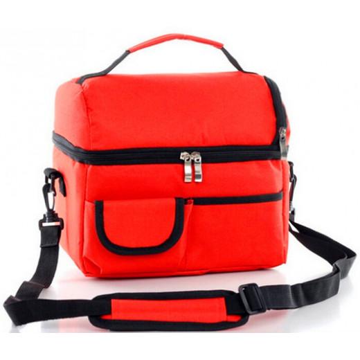 حقيبة غداء مبردة مناسبة وحقيبة منعشة للعزل - أحمر