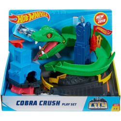 Hot Wheels City Cobra Crush Connectable Play Set
