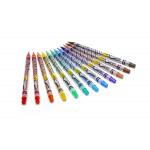 12 قلم تلوين كرايولا قابل للمسح 1 * 24