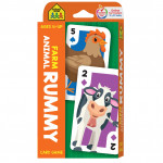 School Zone - Farm Animal Rummy Card Game