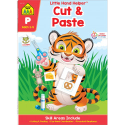 School Zone - little hand helper cut and paste ages 3-5