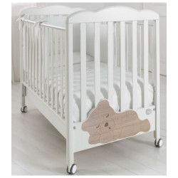 Baby Expert Baby Cot Coccolo - White/Oak