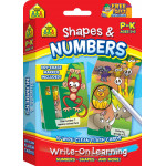 School Zone - Shapes & Numbers Write-On Learning Wipe-Clean Flash Cards