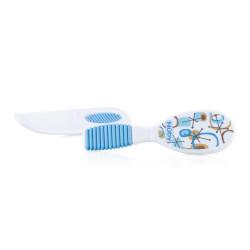 Nuby Comb & Brush 3m+ - Blue