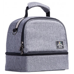 Sunveno Insulated Bottle and Lunch Bag, Grey