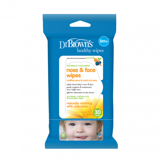 Dr. Brown's Nose & Face Wipes 30-Pack