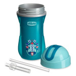 Chicco Sport Straw Cup with Insulating Wall, 14m + Blue