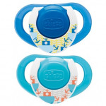 Chicco Physio Compact Blue (12M+) Silicone 2 Pieces