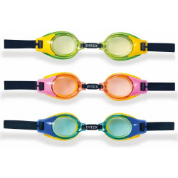Intex - Junior Goggles, Ages 3-8, 3 Colors Assortment