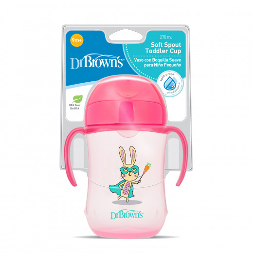 Dr Brown's Soft Spout Toddler Cup, 270 ml, Pink