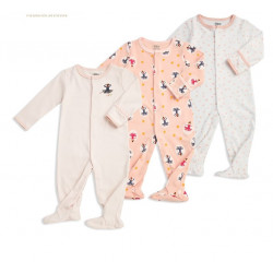 Colorland - (4) Baby Bodysuit 3 Pieces In One Pack - 12-18 Months