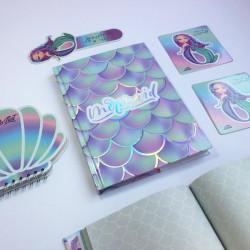 مجموعة دفتر حورية البحر التصميم الثاني من مفكرة