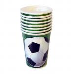 Unique - 3D Soccer Unique Party Cups X8