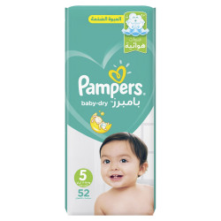 Pampers Baby-Dry Diapers, Size 5, Junior, 11-18 kg, Jumbo Pack, 52 Count