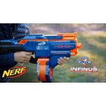 Nerf N-Strike Infinus Elite Toy Motorized Blaster with Speed-Load Technology, 30-Dart Drum