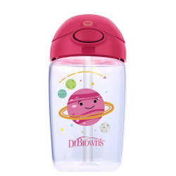 Dr Brown's Milestones Straw Cup with Lid, 350 ml, Pink